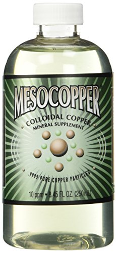 MesoCopper ® 10 ppm cobre coloidal 250 mL/8.45 Oz