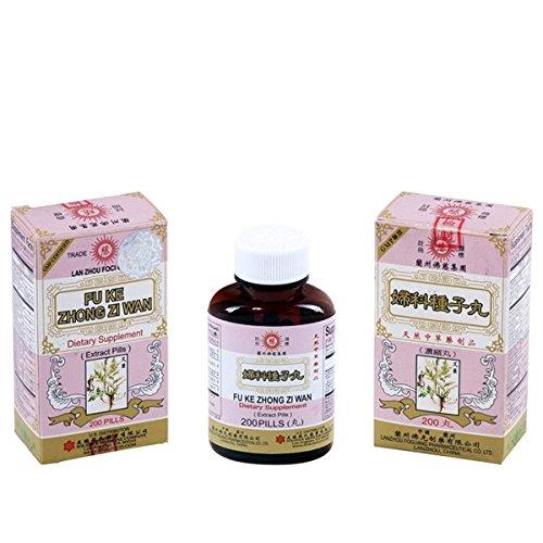 Píldoras de suplemento herbario 200 focos - Fu Ke Zhong Zi Wan - Lan Zhou