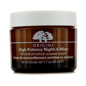 Crema de noche-A-Mins enriquecida con minerales humedad de origen alta potencia 1.7 oz, 50 ml