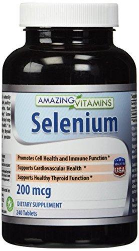 Increíble nutrición selenio 200 Mcg 240 tabletas