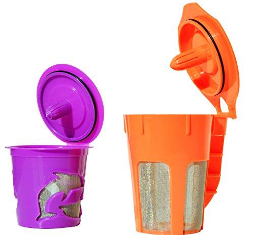 FANOR reutilizables K jarra y taza K filtro de café Pod Combo de Keurig 2.0, K200, K300, K400 K500 Series