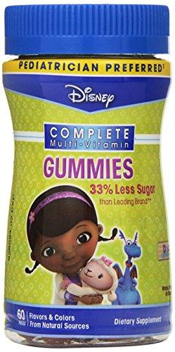 Disney Doc McStuffins Complete multi-vitamina gomitas, cuenta 60