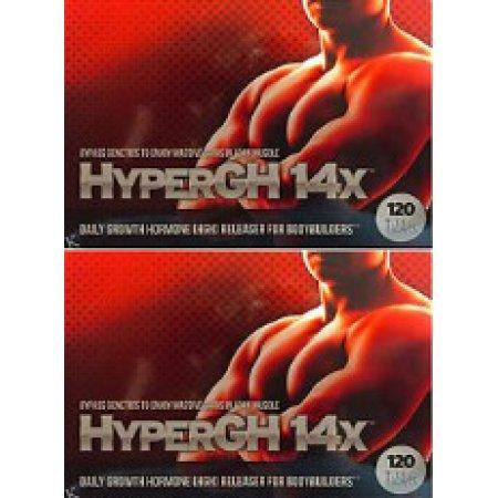 Dos cajas de 14x de la hormona de crecimiento 120tab HyperGH para maximizar de forma natural y legalmente puro músculo y sin do