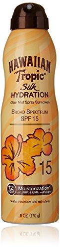 Hidratación de seda Hawaiian Tropic bloqueador solar hidratante de amplio espectro solar protector solar Spray - SPF 15, 6 onzas