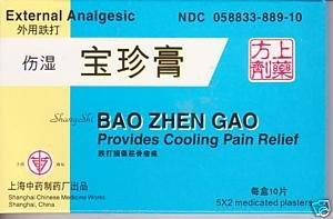 Revocos de Shang Shi Bao Zhen Gao - analgésico externo (10 Revocos por caja) - 3 cajas
