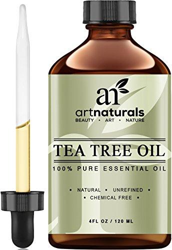 Uso de arte naturales té árbol aceite esencial puro y Natural 4 Oz Premium Melaleuca grado terapéutico de Australia, con jabón y champú, cara y cuerpo lavado, tratamiento para el acné, piojos y muchas condiciones de la piel