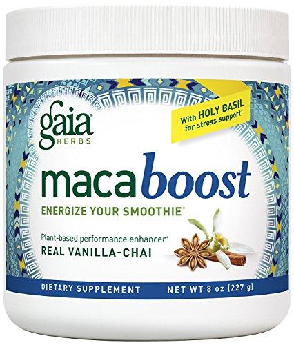 Gaia hierbas Maca Boost suplemento, Chai vainilla, 8 onzas