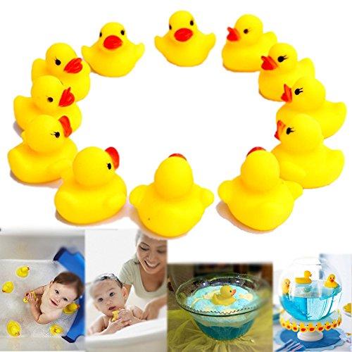 Deslumbrante juguetes goma pato Ducky Duckie babyshower - paquete de 12 (D102)