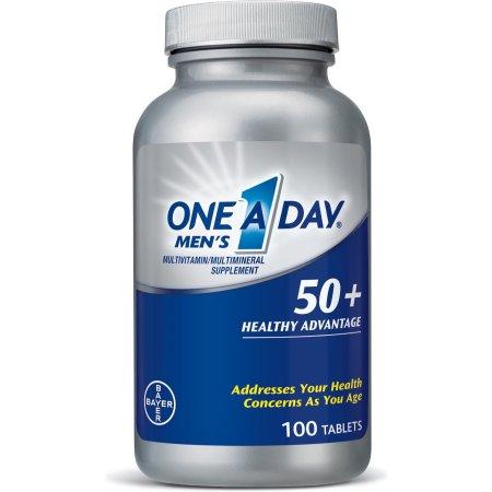One-A-Day 50+ para Hombres Vitaminas 100 Cápsulas 2 Frascos
