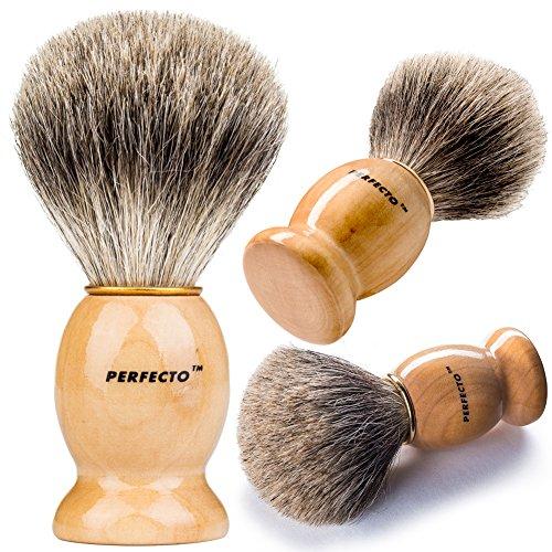 Perfecto 100% puro tejón brocha de afeitar-ya a la venta!!!!!! Diseñado para ofrecer el mejor afeitado de tu vida!!!!!! No importa qué método utilizas, maquinilla de afeitar de seguridad, doble borde de maquinilla de afeitar, Staight Razor o navaja de afe