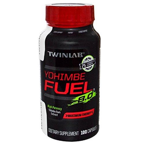 Twinlab, Yohimbe Fuel 8,0 100 cápsulas