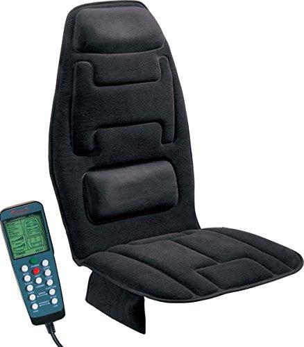 Relaxzen 60-2910 amortiguador de asiento de masaje 10 motores con calor, negro