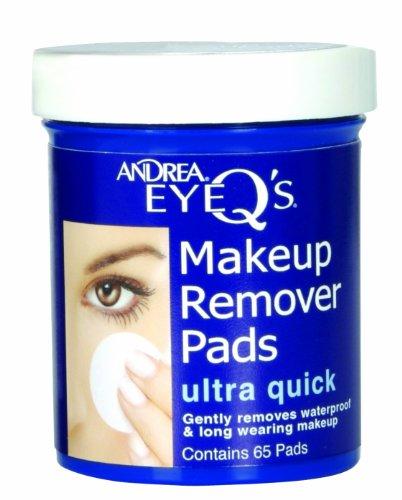 Andrea Eye Q Ultra rápido ojo maquillaje removedor cojines, 65-Count (paquete de 3)