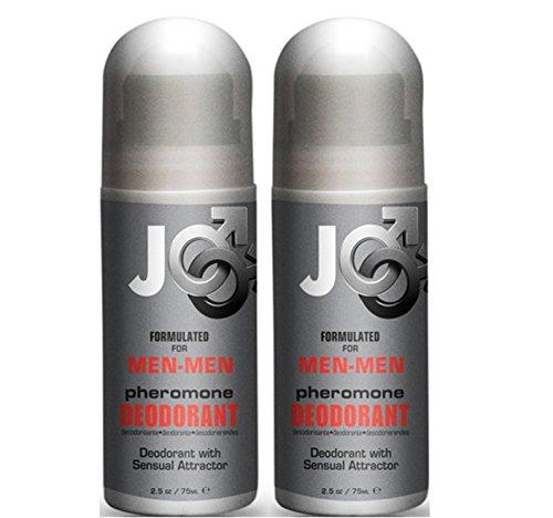 Sistema Jo Pheromone Sensual Roll on desodorante para hombres - hombres: tamaño de 2.5 Oz (paquete de 2)