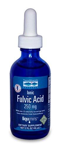 Traza de minerales investigación IOFA01 - ácido fúlvicos iónica líquido con Concentrace suplemento, 0,3 lb