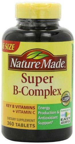 Naturaleza tabletas complejo Super B, tamaño de valor, cuenta 360