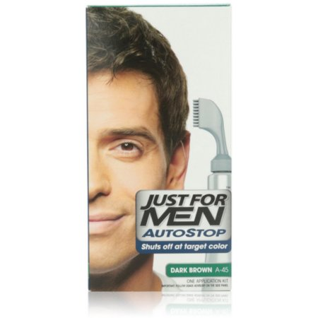 Just For Men AutoStop Color de pelo oscuro Brown A-45 1 Cada (Pack de 4)