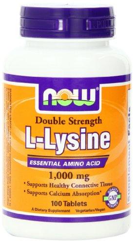 AHORA alimentos L-lisina 1000mg, 100 tabletas