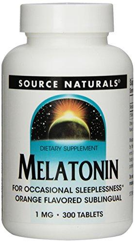Source Naturals melatonina 1mg, naranja, 300 comprimidos