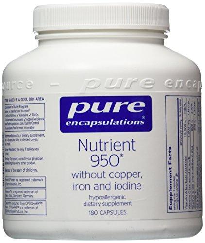 Puros encapsulados - nutrientes 950 sin cobre, hierro y yodo - 180's