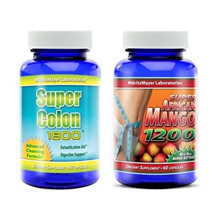 Súper Colon 1800 y el Super African Mango 1200 Pérdida de Peso Limpieza 1 Frasco