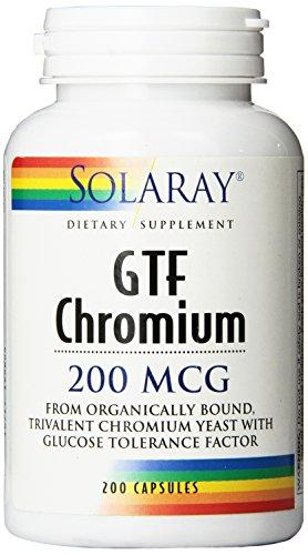 Cápsulas de Solaray GTF cromo, 200 mcg, cuenta 200
