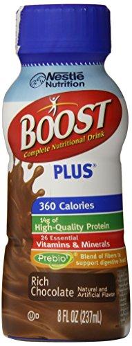 Impulsar más completa bebida nutricional, rico Chocolate, 8 onzas de líquido (paquete de 24)