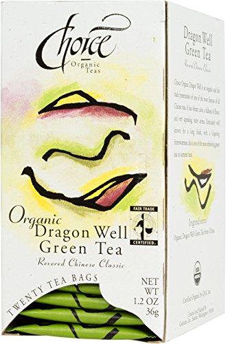 Opción orgánica dragón bien el té verde, cuenta 20 caja