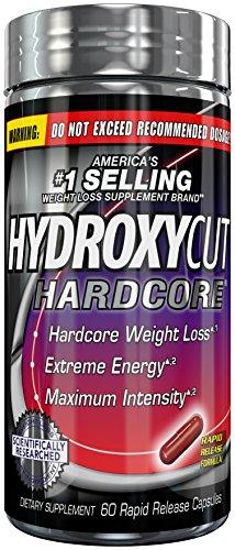 Hydroxycut Hardcore, marca Estados Unidos #1 venta peso pérdida, 60 cápsulas de liberación rápida, pérdida de peso Hardcore, energía extrema, intensidad máxima