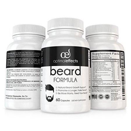 Beard Fórmula Suplemento para Tener más Barba 60 Cápsulas