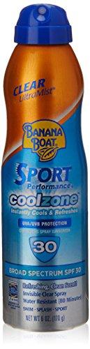 Banana Boat protección solar deporte Perfomance Cool zona amplio espectro solar protector solar Spray - SPF 30, 6 onzas
