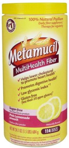 Metamucil fibra de salud múltiples por Meta, rosado limonada azúcar libre 114 cucharaditas onzas 24,1