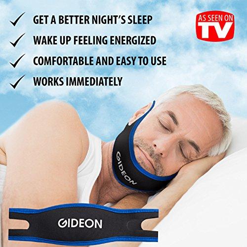 Gideon™ correa ajustable de barbilla AntiRonquidos - ronquido Natural e instantáneo alivio - parada Ronquida solución - Natural, rápido y Simple