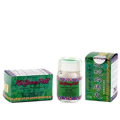 Píldora de Yeung Kai (astrágalo, piel, sangre, inmune y circulatorio) - suplemento herbario - 45 pastillas