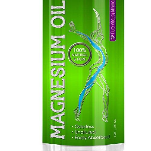 Mejor aerosol del aceite de magnesio - magnesio puro y no diluido 100% suplemento para dormir, ansiedad y estrés, migraña, dolor muscular, síndrome de piernas inquietas, dolores períodos (fuente: antiguo minerales en Estados Unidos)