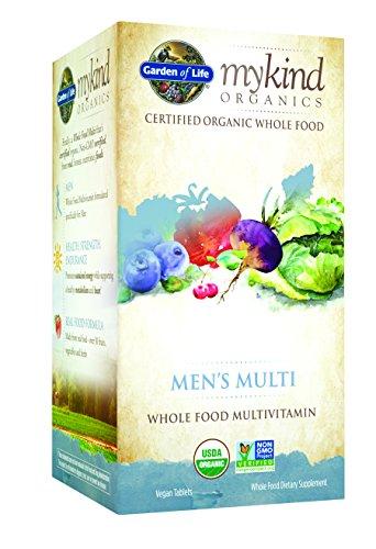Multi jardín de la vida mykind orgánicos hombres, 120 tableta orgánico
