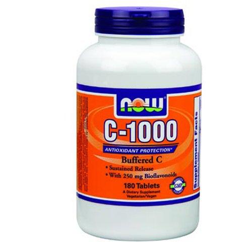 AHORA alimentos C-1000 intermedia C con 250mg de bioflavonoides sostenido liberar 180 comprimidos