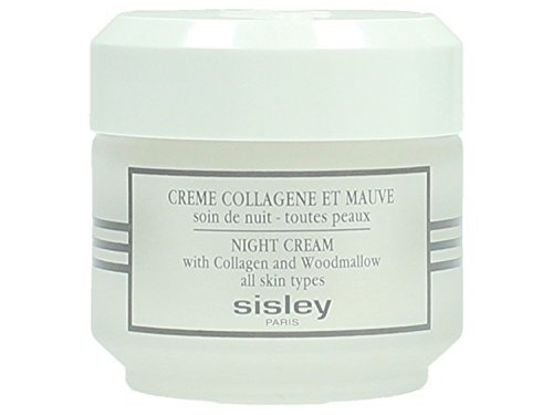 Sisley crema de noche botánico con colágeno & Woodmallow, frasco de 1,6 onzas