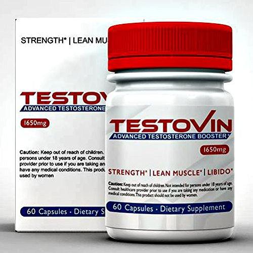 Testovin: Mejor Natural testosterona para los hombres - para mayor crecimiento muscular, alta libido, energía y la Libido bestial - Anti estrógenos pila - todos los suplementos masculinos Natural, con Zinc y alholva