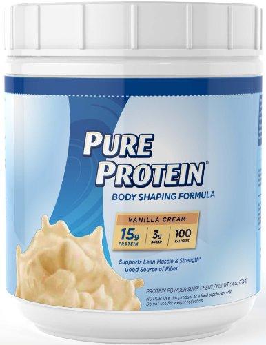 Pura proteína de suero Natural, crema de vainilla Shake, 14 onzas
