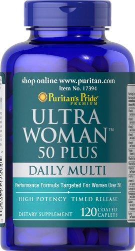 De Puritan Pride Ultra mujer 50 Plus Multi-Vitamin-120 comprimidos recubiertos