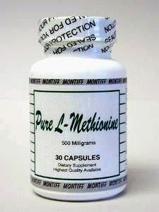 Montiff - pura L-metionina 500 mg 30 cáps