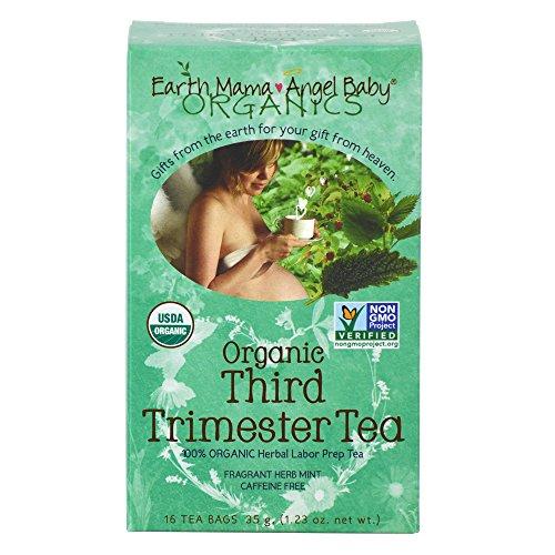Bebé del ángel mamá tierra orgánica tercer trimestre té, bolsitas de té/caja de 16