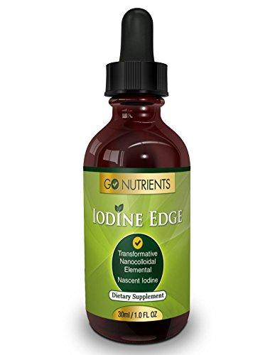 Un frasco de yodo naciente suplemento - gotas de líquido alta potencia para la ayuda de la tiroides - duran 3 meses - borde de yodo