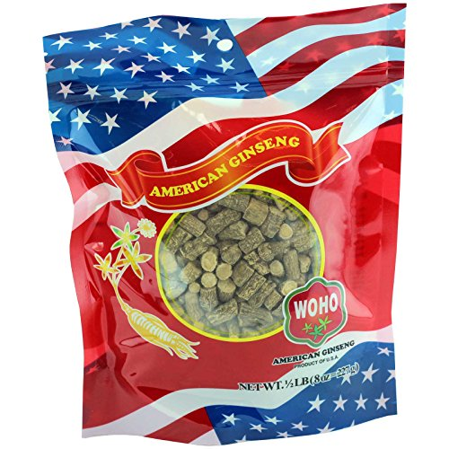 WOHO Ginseng americano #121.8 diente grande 8 oz Bag
