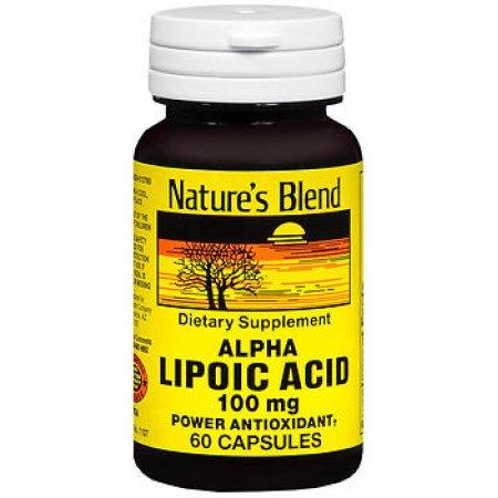 Nature's Blend ácido alfa lipoico 100 mg 60 Cápsulas