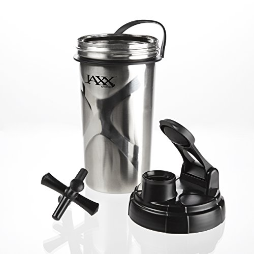 Jaxx Fit & Fresh taza de coctelera de acero inoxidable, 24 onzas