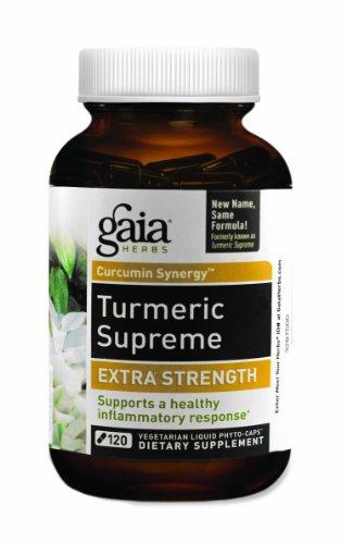 Gaia hierbas cúrcuma Supremo fuerza Extra líquido Fito-cápsulas, 120 cuenta