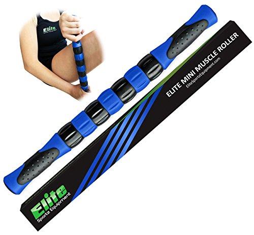 La élite de la pierna de rodillos palillo para corredores - músculo rápido alivio de músculos doloridos y firmemente la pierna y calambres - azul