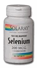 Selenio 200mcg sin levadura Solaray 90 Caps
